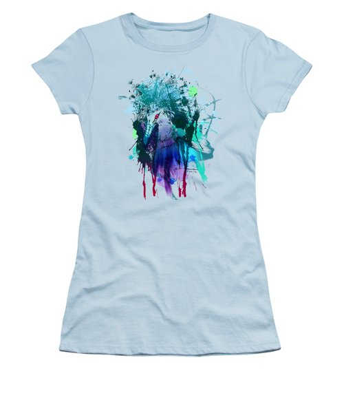 Victoria Crowned Pigeon Women's T-Shirt (Junior Cut) by Clinton Caleb
