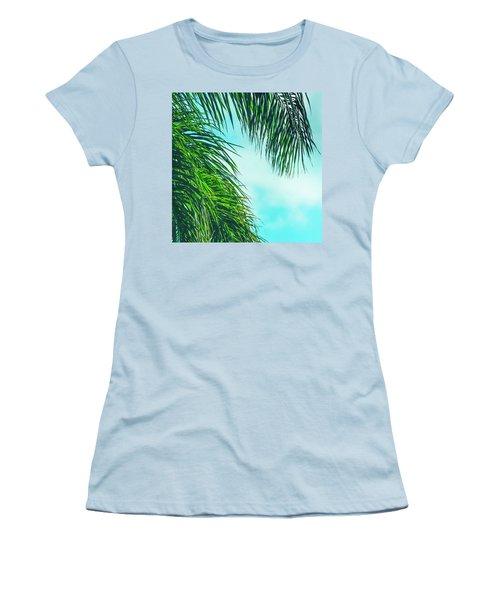 Tropical Palms Maui Hawaii Women's T-Shirt (Junior Cut) by Sharon Mau