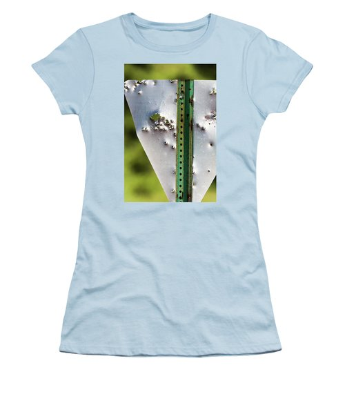 Bullet Hole Yield Women's T-Shirt (Junior Cut) by Bill Kesler