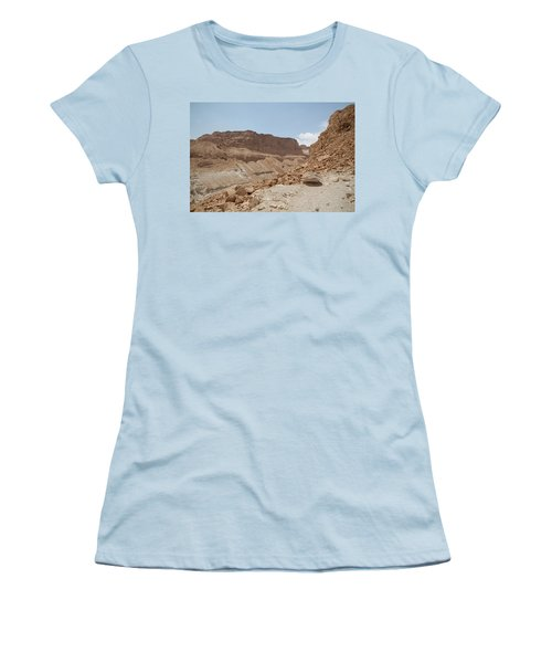 Women's T-Shirt (Junior Cut) featuring the photograph Ascension To Masada - Judean Desert, Israel by Yoel Koskas