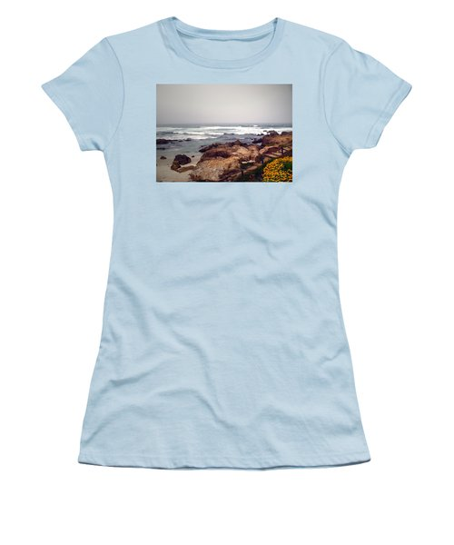 Asilomar Beach Pacific Grove Ca Usa Women's T-Shirt (Athletic Fit)