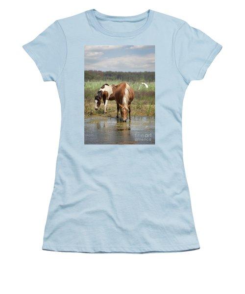 Assateague Pony Pair Women's T-Shirt (Athletic Fit)