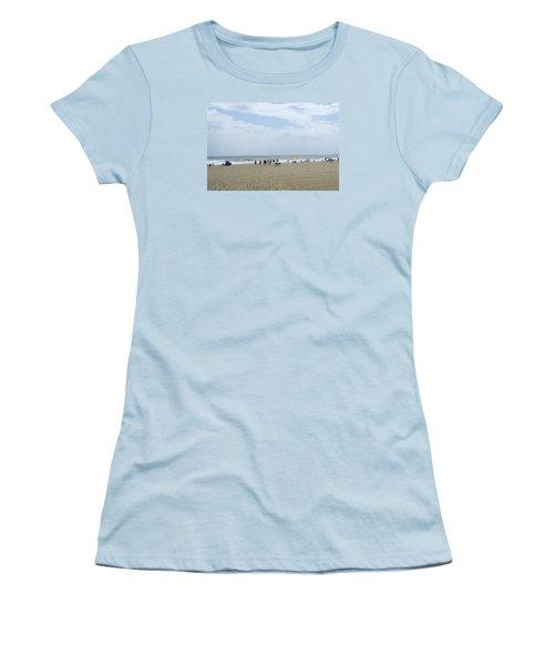 At The Beach Women's T-Shirt (Junior Cut) by Heidi Poulin