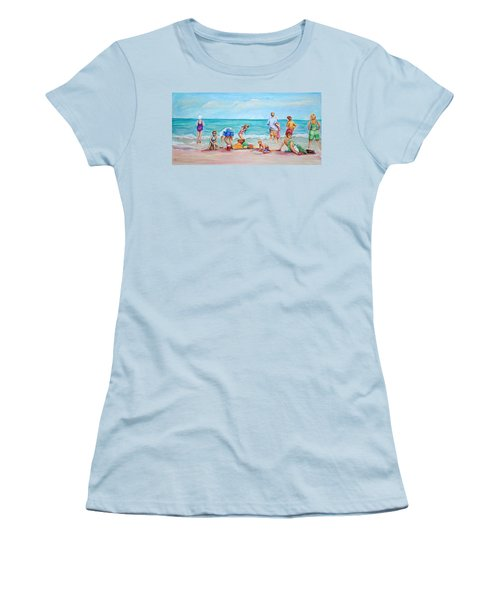 At The Beach Women's T-Shirt (Junior Cut) by Patricia Piffath