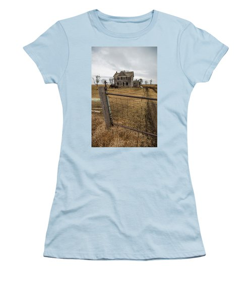 Women's T-Shirt (Junior Cut) featuring the photograph At The Gate  by Aaron J Groen
