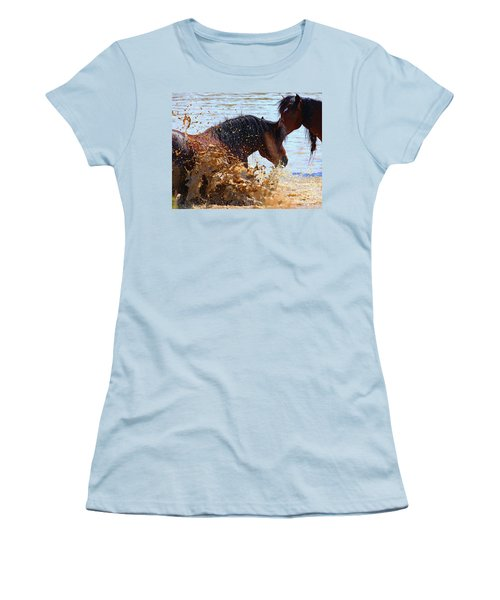 At The Watering Hole Women's T-Shirt (Athletic Fit)