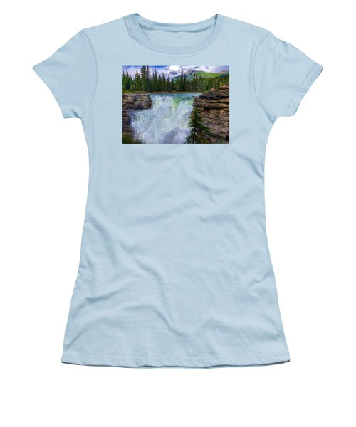 Athabasca Falls, Ab  Women's T-Shirt (Junior Cut) by Heather Vopni