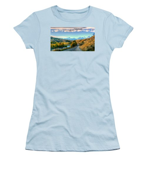 Atherton View Of Tetons Women's T-Shirt (Athletic Fit)