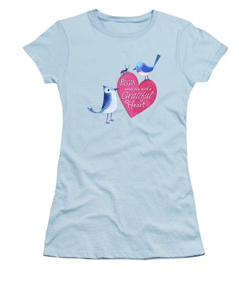 Attitude Of Gratitude Women's T-Shirt (Athletic Fit)