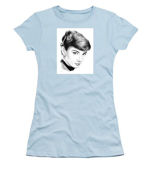 Audrey Hepburn Women's T-Shirt (Junior Cut) by Greg Joens