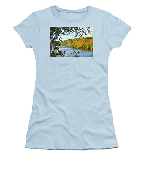 Autumn Along The New River - Bisset Park - Radford Virginia Women's T-Shirt (Athletic Fit)