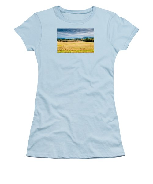 Autumn Field Women's T-Shirt (Athletic Fit)