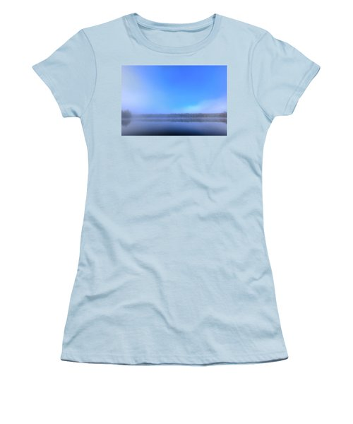Women's T-Shirt (Athletic Fit) featuring the photograph Autumn Fog Over West Lake by David Patterson