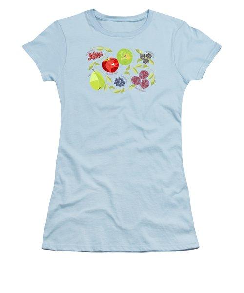 Autumn Fruit Geodesic Women's T-Shirt (Athletic Fit)