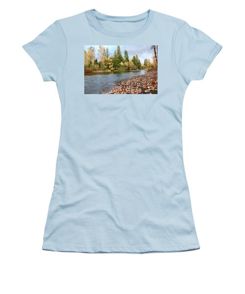 Autumn On The Molalla Women's T-Shirt (Athletic Fit)