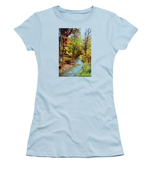 Autumn Stream Women's T-Shirt (Athletic Fit)