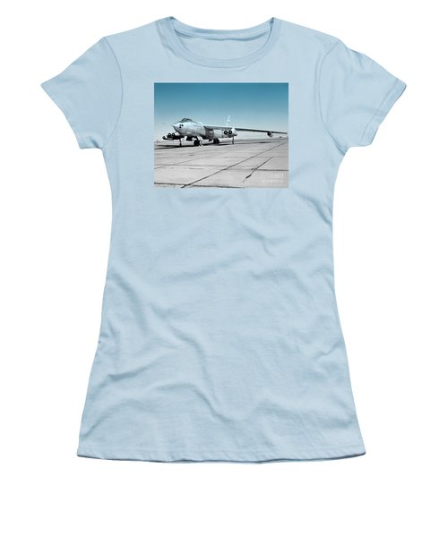 Women's T-Shirt (Junior Cut) featuring the photograph B47a Stratojet - 1 by Greg Moores