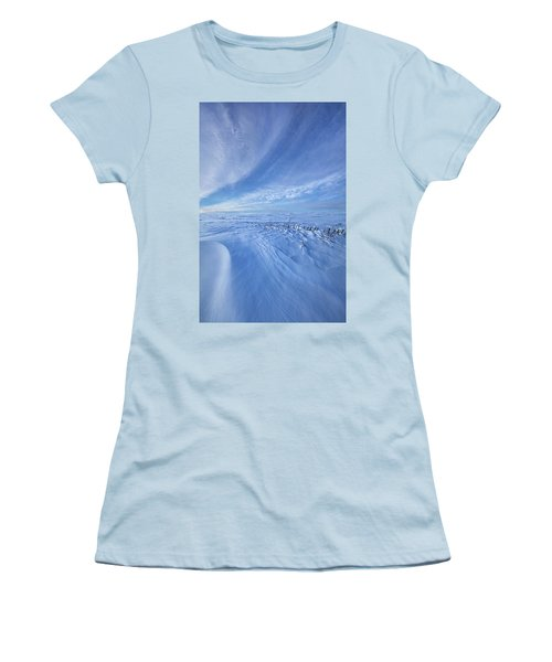 Women's T-Shirt (Junior Cut) featuring the photograph Baby It's Cold Outside by Phil Koch
