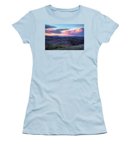 Badlands Sunrise Women's T-Shirt (Junior Cut) by Fiskr Larsen
