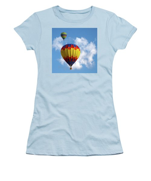 Women's T-Shirt (Junior Cut) featuring the photograph Balloons In The Cloud by Marie Leslie