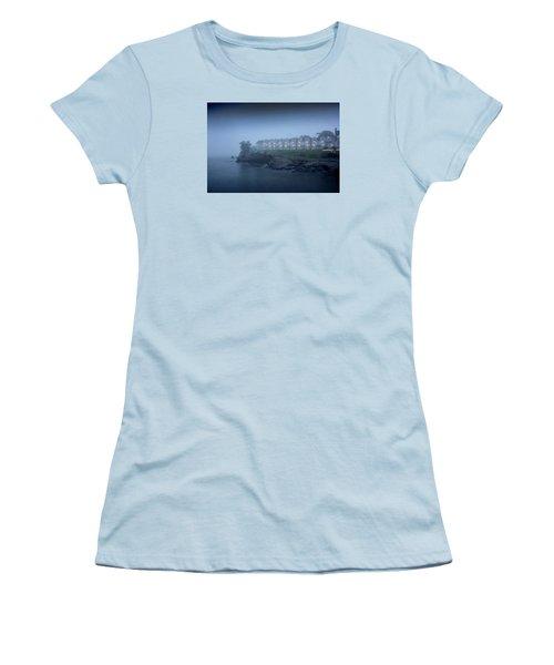 Bar Harbor Inn - Stormy Night Women's T-Shirt (Junior Cut) by Brendan Reals