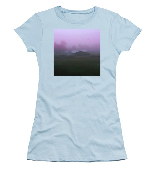 Barn On A Misty Morning Women's T-Shirt (Athletic Fit)