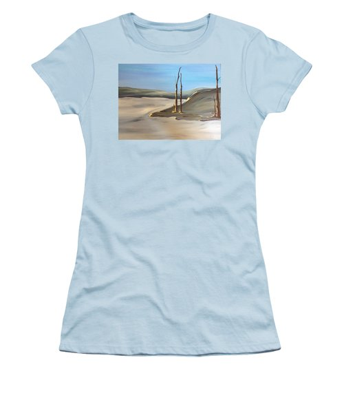 Women's T-Shirt (Junior Cut) featuring the painting Barren by Pat Purdy