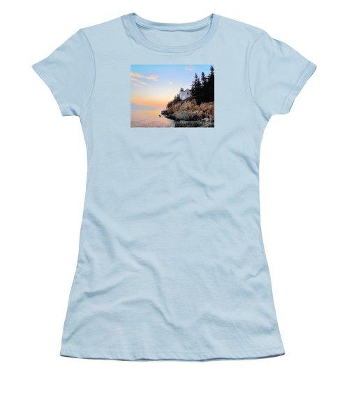 Bass Harbor Sunset II Women's T-Shirt (Junior Cut) by Elizabeth Dow