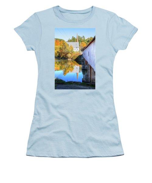 Bath Covered Bridge Women's T-Shirt (Athletic Fit)