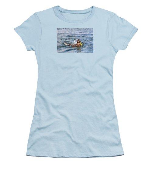 Women's T-Shirt (Junior Cut) featuring the photograph Bath Time by Glenn Gordon