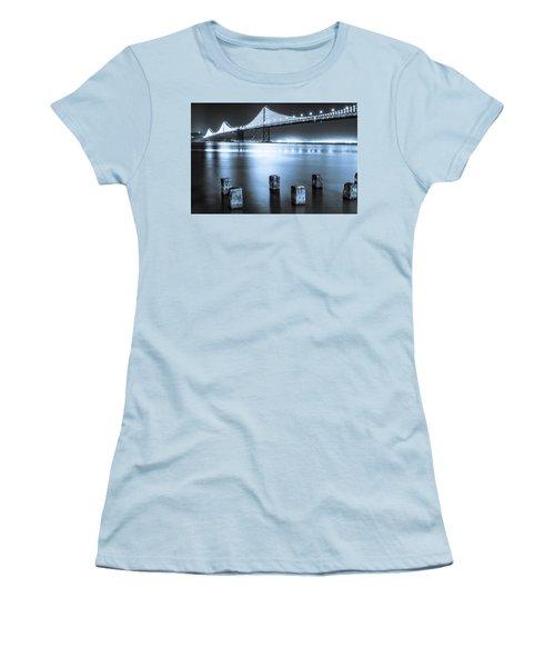 Bay Bridge 1 In Blue Women's T-Shirt (Athletic Fit)