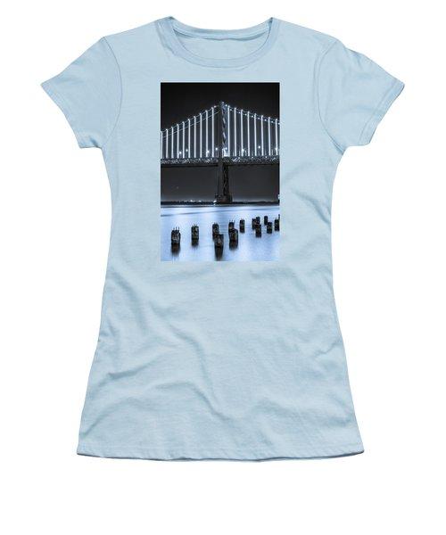 Bay Bridge 2 In Blue Women's T-Shirt (Athletic Fit)