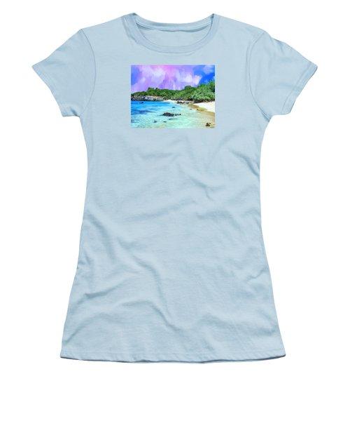Beach 69 Big Island Women's T-Shirt (Athletic Fit)
