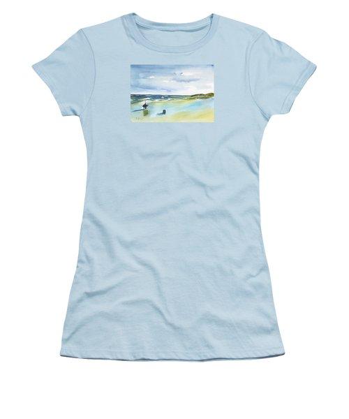 Beach Fishing Women's T-Shirt (Junior Cut) by Frank Bright