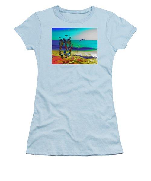 Beach Geometry  Women's T-Shirt (Athletic Fit)