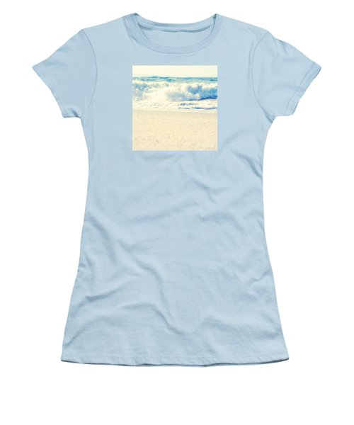 Women's T-Shirt (Athletic Fit) featuring the photograph Beach Gold by Sharon Mau