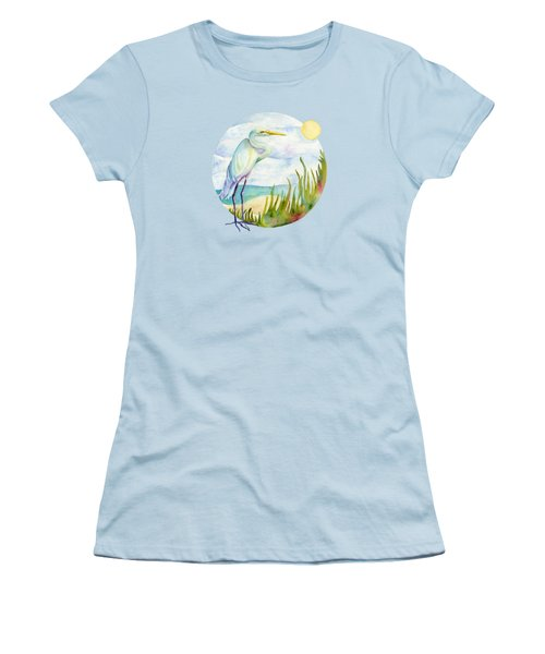 Beach Heron Women's T-Shirt (Junior Cut)