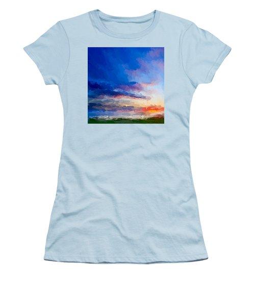 Beach Sunset Women's T-Shirt (Junior Cut) by Anthony Fishburne