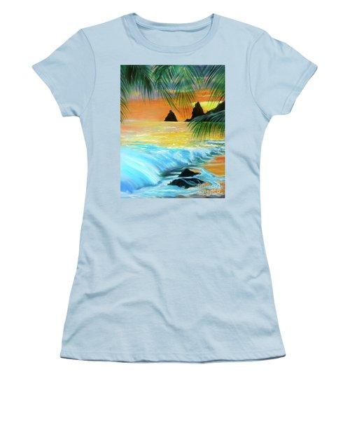 Beach Sunset Women's T-Shirt (Athletic Fit)