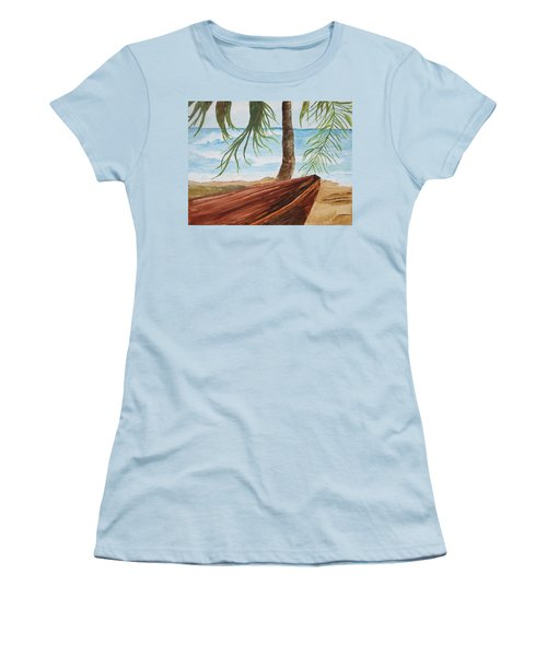 Beached Boat Women's T-Shirt (Athletic Fit)