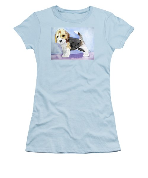 Beagle Pup Women's T-Shirt (Athletic Fit)