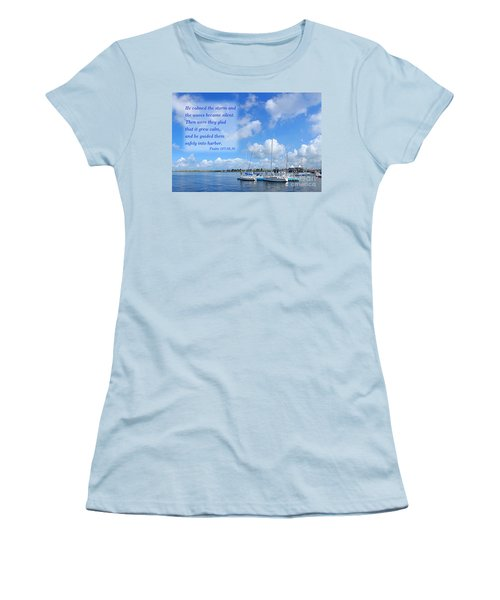 Women's T-Shirt (Athletic Fit) featuring the photograph Beautiful Marina And Sky Panorama by Yali Shi
