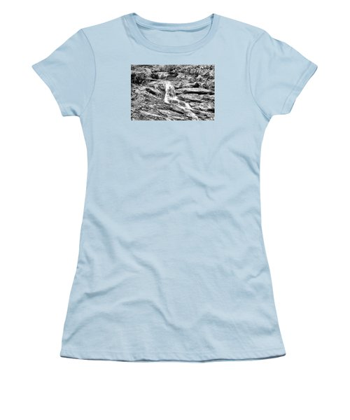 Becky Branch Falls In Black And White Women's T-Shirt (Athletic Fit)