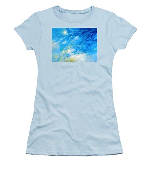 Becoming Crystal Clear Women's T-Shirt (Junior Cut) by Dina Dargo