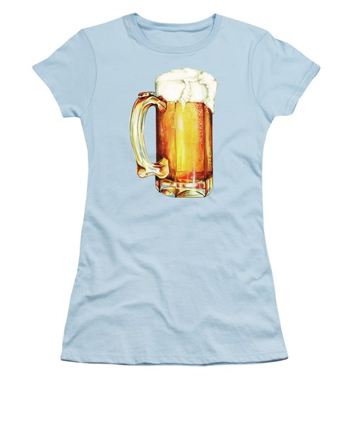 Beer Pattern Women's T-Shirt (Athletic Fit)