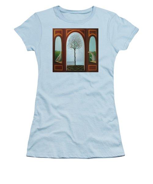 Belgian Triptyck Women's T-Shirt (Junior Cut) by Tone Aanderaa