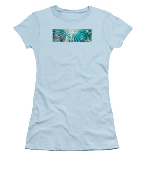 Women's T-Shirt (Junior Cut) featuring the painting Believe By Sherri Of Palm Springs by Sherri Of Palm Springs