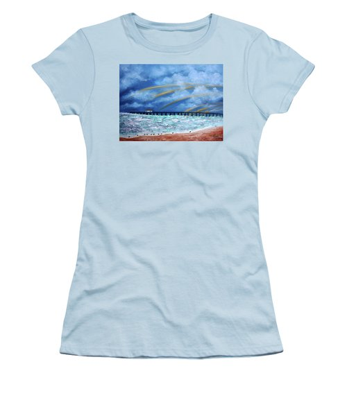 Belmar's Fishing Pier Women's T-Shirt (Athletic Fit)