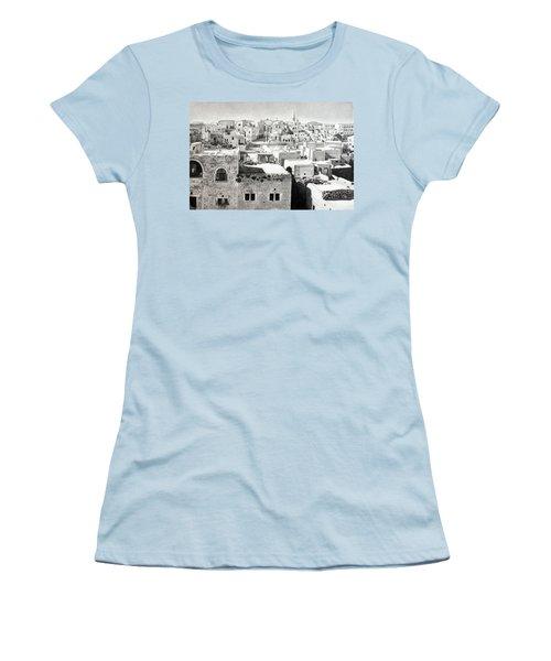 Bethlehem Old Town Women's T-Shirt (Junior Cut) by Munir Alawi
