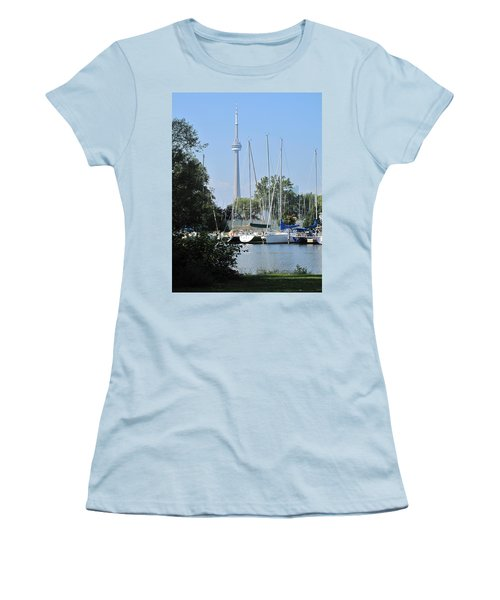 Beyond The Trees  Women's T-Shirt (Athletic Fit)